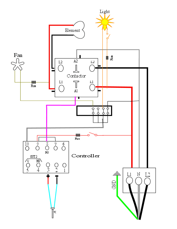 My Oven Schematic For New Oven Builders Caswell Inc