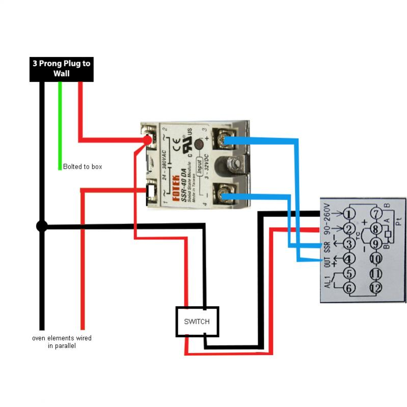 Oven Built: Looking to Wire. Wiring Diagram Attached for Review ...